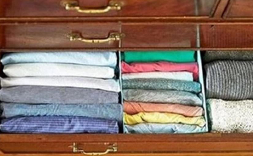 Подборка советов. Kак правильно складывать одежду и хранить вещи в шкафах